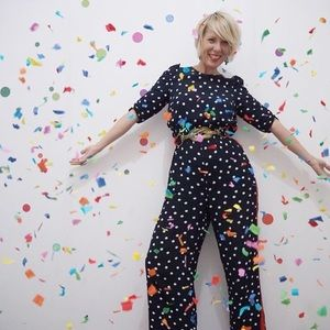 M/&S COLLECTION  Polka Dot Waisted Jumpsuit PRP £59